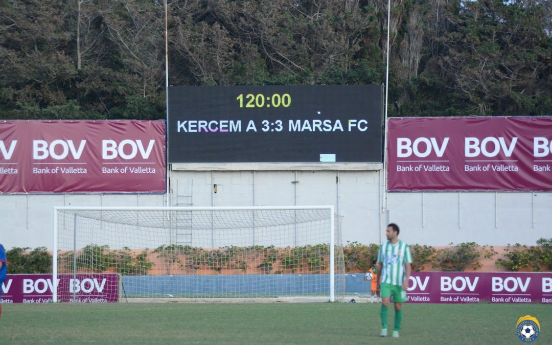 Kercem Force the Match to Extra Time but Get Eliminated on Penalties