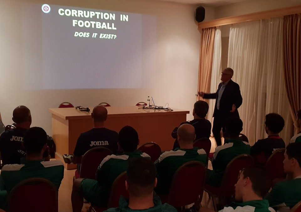 Oratory Youths attends lecture about Match fixing