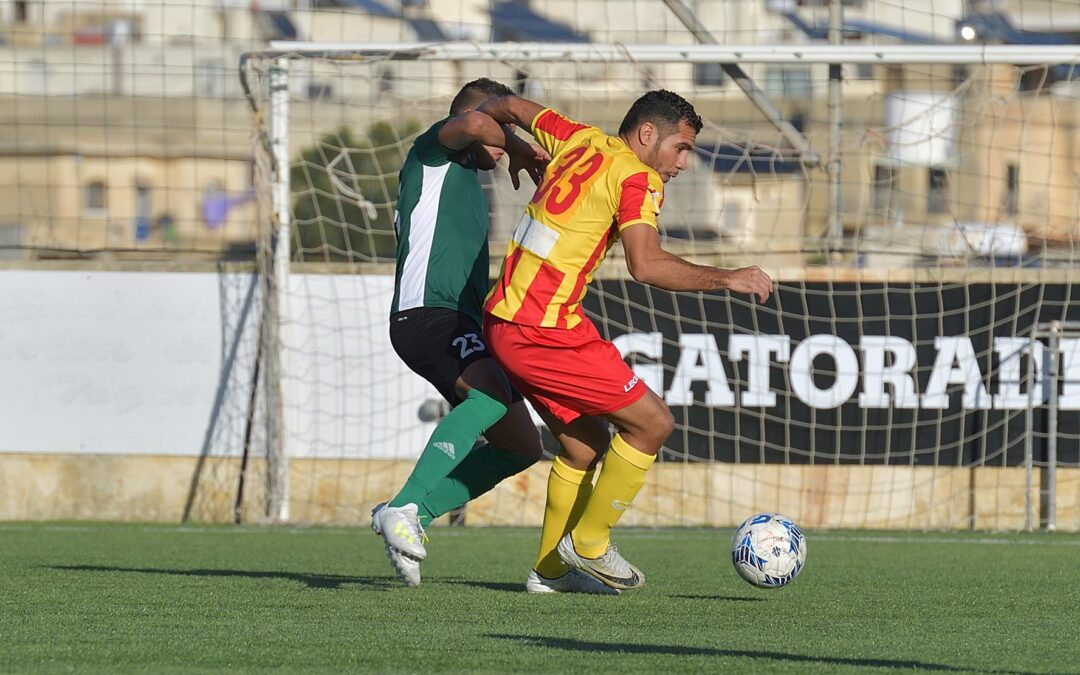 Sannat score four goals in each half and remain with maximum points